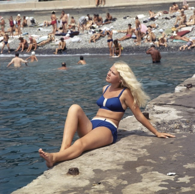 """Градският плаж в Сочи, 1970 г. Снимка: РИА """"Новости"""""""