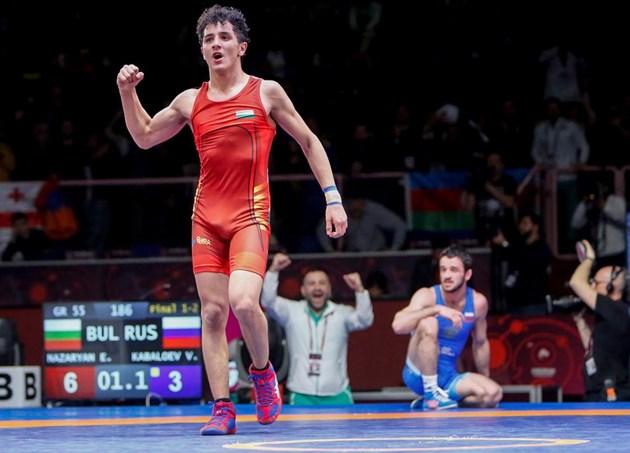 Едмонд Назарян попиля световни и европейски шампиони по пътя към титлата