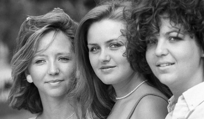 """Момичета на празника, посветен на срещата на съветската и френската младеж, 1984 г. Снимка: РИА """"Новости"""""""