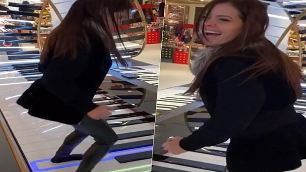 Преслава скача по пиано (видео)