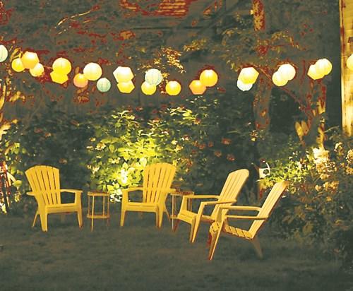 Осветете градината: 8 интересни идеи