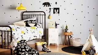 Черно-бяла детска стая (галерия)