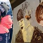Даринка рисува с шоколад