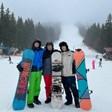 Енчо Керязов учи сноуборд