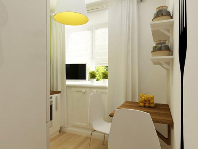 Зоната под прозореца в кухнята също е място за съхранение