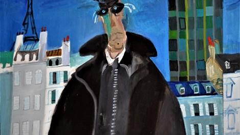 Любен Зидаров на 93 години рисува в Париж