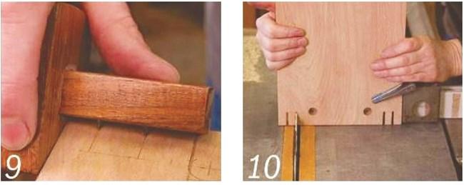 Седалката има три прореза, изрязани във всеки край, общо 6. Външните два са корпуси за монтаж на крака, а средният – големият, дава свобода на ръката около дръжката.