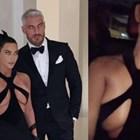 Ким Кардашиян шокира с рокля без сутиен, която едва скрива гърдите й (Снимки+видео)