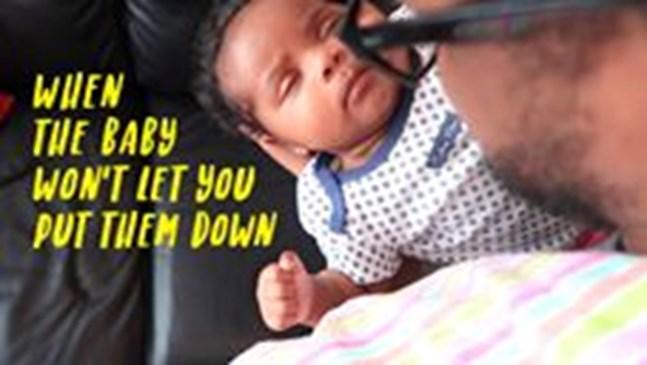 Забавното видео на този баща описва перфектно живота с бебе