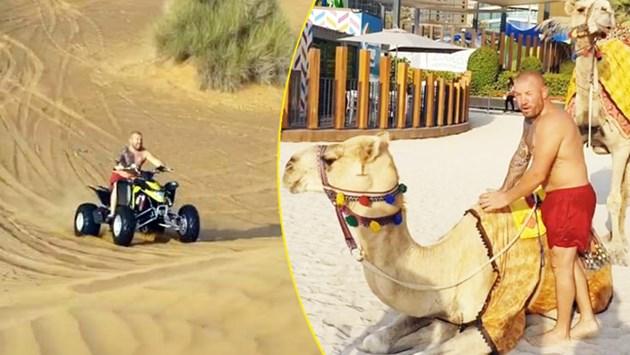Динко яхва АТВ и камила в Дубай