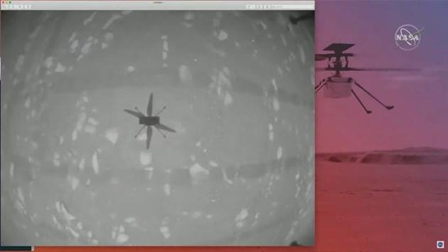Хеликоптерът Ingenuity с исторически първи полет на Марс