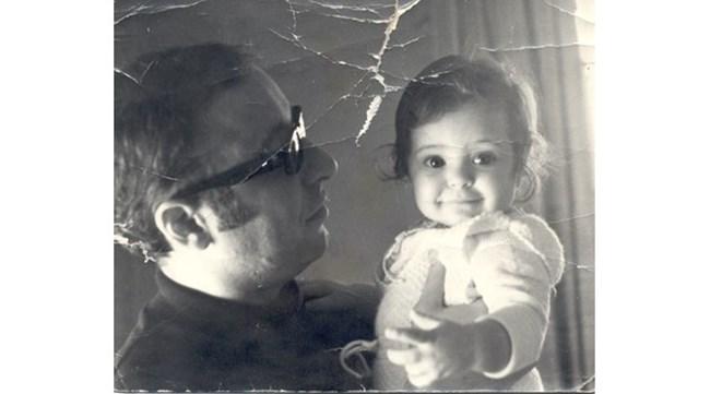 Хилда като малка заедно с баща си Вили Казасян