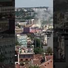 Гори покривът на Русенската опера (Видео)