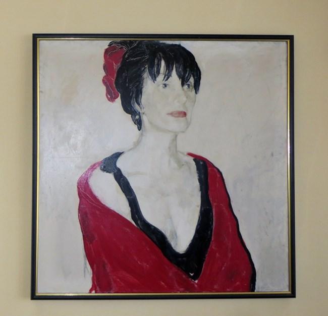 Портретът на Йорданка Христова, нарисуван от Светлин Русев