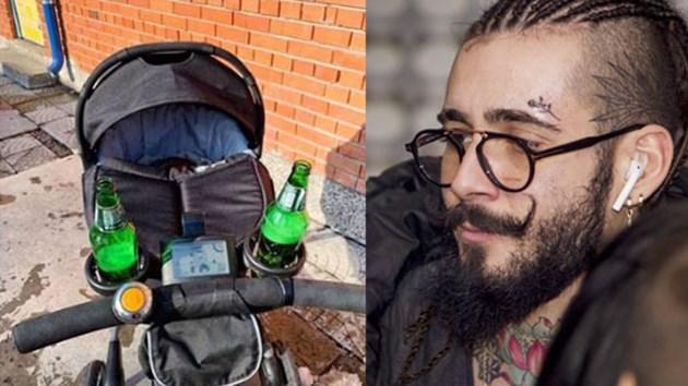 Венци Венц бута бебето с бира