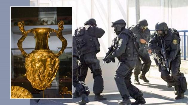 Тежковъоръжена охрана пази Панагюрското съкровище