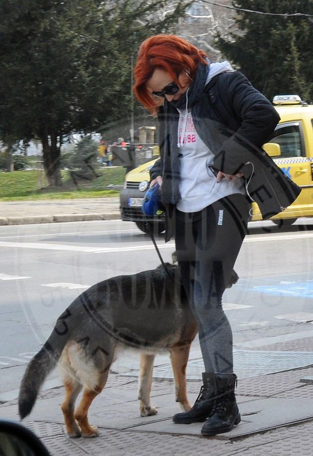 Писателка разхожда куче