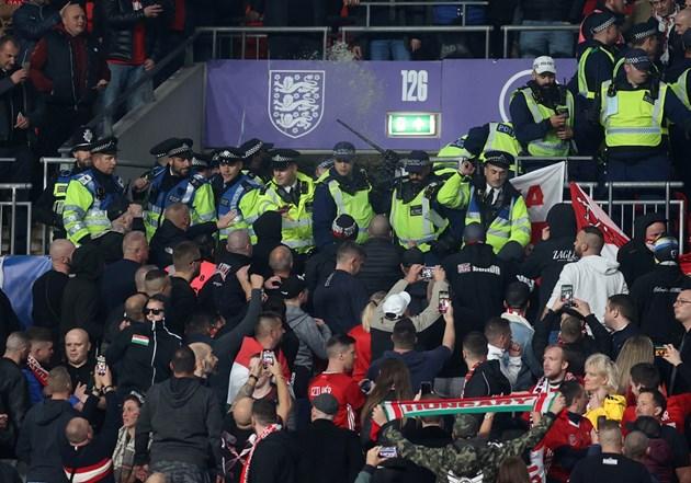Английската полиция имаше проблеми с унгарските фенове