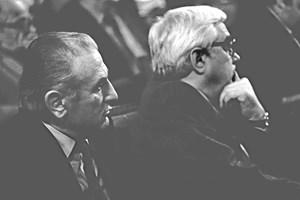 Александър Лилов (вляво) и Андрей Луканов