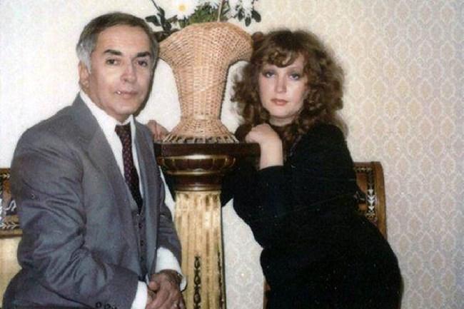 Пугачова с диригента Константин Орбелян, за когото за малко да се ожени, но се влюбила в друг