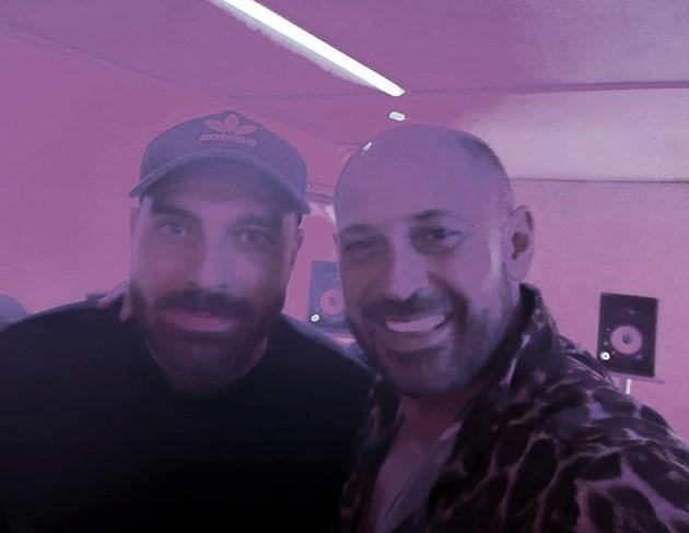 Двама рапъри в студиото