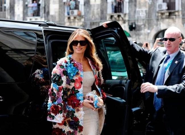Мелания Тръмп на срещата на лидерите от Г-7